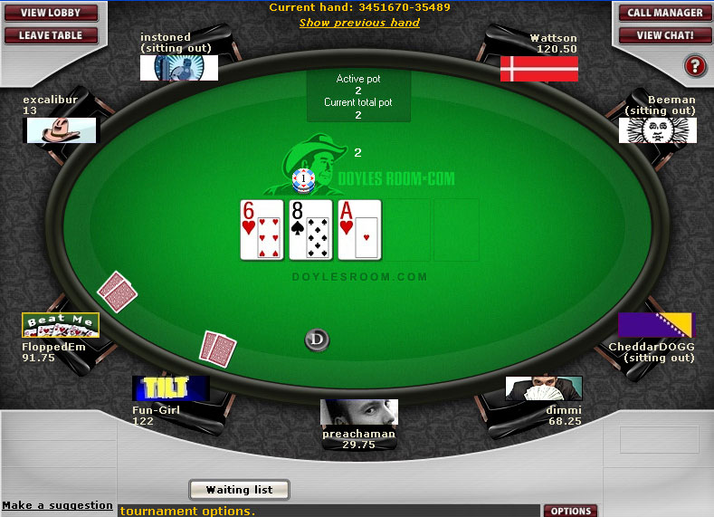 doyles room poker